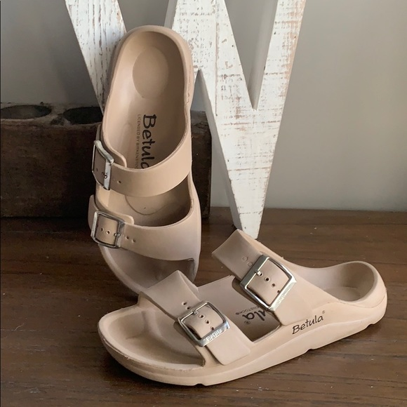 Birkenstock Betula Arizona Cream Sandals size 39